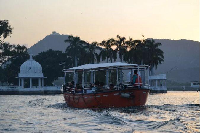 Boat ride at fateh Sagar Lake
